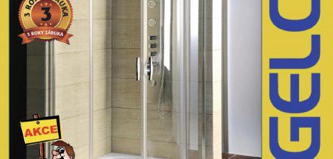 Sprchový kout GELCO s vaničkou z litého mramoru za super cenu