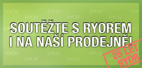 Soutěž se značkou RYOR na naší prodejně!